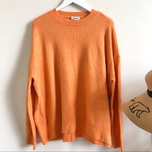 Weekday orange oversized knit sweater